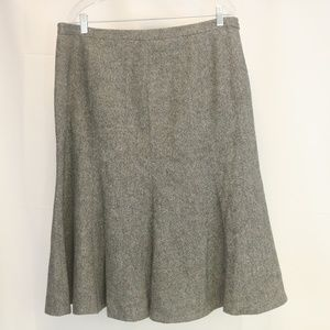 🌹 Eddie Bauer Women's 16 Skirt Wool Blend Tweed